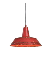 Picture for category Pendants 1 Light With Distressed Poppy and Tomato Finish Steel 14 inch 100 Watts