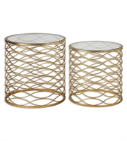 Picture for category World of Decor RL-127982 Tables Gold Metal / Glass Zoa