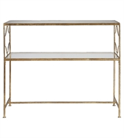 Picture for category Table With Finish Gold Leaf Iron and Material - Metal and Glass sz 42 X 34 inch