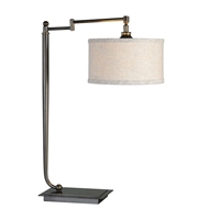 Picture for category Desk Lamps 1 Light With Dark Bronze Finish Iron Fabric Beige Linen 26 inch 100 Watts