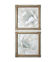 Picture for category World of Decor RL-128684 Decor Pale Gray-Green METAL Winter Blooms