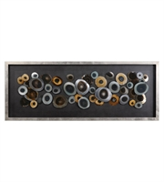 Picture for category Decors W/ Finish Silver and Material - MDF Glass Iron Acrylic size 62 X 24 inch