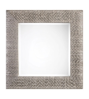 Picture for category Mirror With Finish Distressed Silver and Pu Mirror MDF Hardware sz 40 X 40 inch