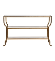 Picture for category Tables W/ Finish Antiqued Gold and Material - Iron and Glass sizes 54 X 34 inch