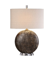 Picture for category Table Lamps 1 Light With Rust Bronze Steel Ceramic Crystal Fabric Oval Hardback Drum 28 inch 150 Watts