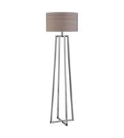Picture for category Floor Lamps 1 Light With Polished Nickel Steel Round Hardback Drum 65 inch 150 Watts
