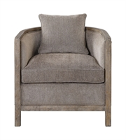 Picture for category Chairs W/ Finish Gray and Solid Wood PolyWood Fabric Foam Hardware 29 X 29 inch