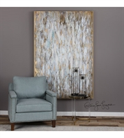 Picture for category Decor W/ Finish Gold Leaf and Material - FirWood Fiber Canas sizes 49 X 73 inch