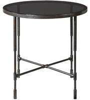 Picture for category World of Decor RL-212045 Tables Aged Steel Metal Glass Vande