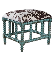 Picture for category Chair With Finish Aqua Blue and Mango Wood With Foam and Fabric sz 22 X 19 inch