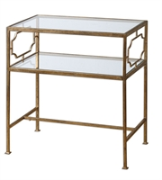 Picture for category World of Decor RL-81423 Tables Metal And Tempered Glass Genell