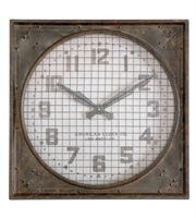 Picture for category World of Decor RL-81868 Decor Mottled Rust Brown Warehouse Clock