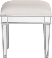 Picture for category Chairs With Silver Finish with Plain Shape/Design and White Color size 18 X 14 inch