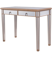 Picture for category Tables With Gold Paint Finish Gold Color and Solid Wood MDF Material size 31 X 42 inch
