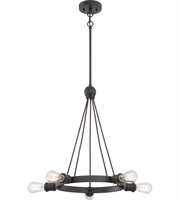 Picture for category Chandeliers 5 Light With Aged Bronze Finished Edison Bulb Type size 28 inch 200 Watts