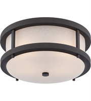 Picture for category Outdoor Wall Sconces 2 Light With Textured Black Finish Omni Bulb Type 13 inch 19.6 Watts
