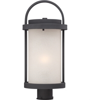 "Picture for category Outdoor Post 1 Light Fixtures With Textured Black Tone Finish Omni Bulb 9"" 9.8 Watts"