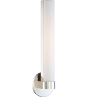 "Picture for category Bathroom Vanity 1 Light Fixtures With Polished Nickel Tone Finish LED Bulb 6"" 13 Watts"