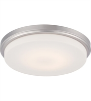 "Picture for category Flush Mounts 1 Light Fixtures With Brushed Nickel Tone Finish Warm Dim Panel LED Bulb 13"" 16 Watts"