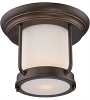 "Picture for category Outdoor Wall Sconces 1 Light Fixtures With Mahogany Bronze Tone Finish Omni Bulb 10"" 9.8 Watts"