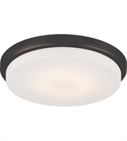 "Picture for category Flush Mounts 1 Light Fixtures With Aged Bronze Tone Finish Warm Dim Panel LED Bulb 13"" 16 Watts"