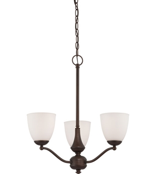 "Picture of Chandeliers 3 Light Fixtures With Prairie Bronze Finish Iron Material Medium Bulb 21"" 180 Watts"