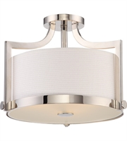Picture for category Semi Flush Mounts 3 Light With Polished Nickel Finish A19 Bulb Type 16 inch 180 Watts