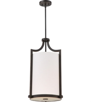 "Picture for category Pendants 3 Light Fixtures With Russet Bronze Finish Metal Glass Material A19 Bulb 14"" 180 Watts"