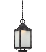 "Picture for category Outdoor Pendant 1 Light Fixtures With Iron Black Tone Finish LED Bulb 8"" 15 Watts"