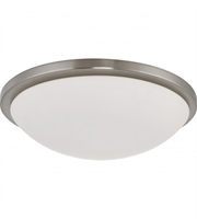 Picture for category Flush Mounts 1 Light With Brushed Nickel Finished LED Bulb Type size 17 inch 25 Watts