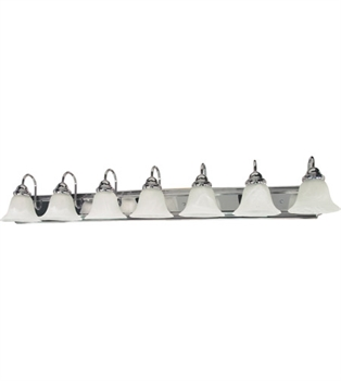 Picture of Bathroom Vanity 7 Light With Polished Chrome Finish Metal Medium 48 inch 700 Watts