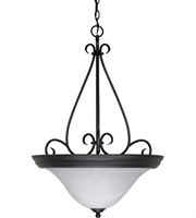 Picture for category Pendants 3 Light With Textured Black Finish Metal Medium Base 21 inch 180 Watts