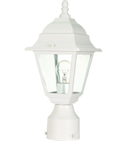 "Picture for category Outdoor Post 1 Light Fixtures With White Finish Aluminum Material Medium Bulb 6"" 60 Watts"