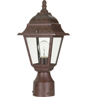 "Picture for category Outdoor Post 1 Light Fixtures With Old Bronze Finish Aluminum Material Medium Bulb 6"" 60 Watts"