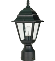 "Picture for category Outdoor Post 1 Light Fixtures With Textured Black Finish Aluminum Material Medium Bulb 6"" 60 Watts"