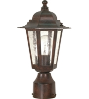 "Picture for category Outdoor Post 1 Light Fixtures With Old Bronze Finish Aluminum Material Medium Bulb 7"" 60 Watts"