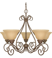 Picture for category Chandeliers 5 Light With Sonoma Bronze Finish Metal Medium Base 28 inch 300 Watts
