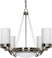 "Picture for category Chandeliers 6 Light Fixtures With Brushed Nickel Finish Iron Material Medium Bulb 29"" 360 Watts"