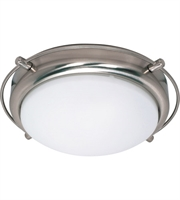 "Picture for category Flush Mounts 2 Light Fixtures With Brushed Nickel Finish Iron Material Medium Bulb 14"" 120 Watts"