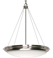 "Picture for category Pendants 3 Light Fixtures With Brushed Nickel Finish Iron Material Medium Bulb 23"" 180 Watts"