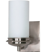 "Picture for category Bathroom Vanity 1 Light Fixtures With Brushed Nickel Finish Iron Material Medium Bulb 5"" 100 Watts"
