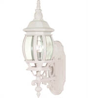 "Picture for category Wall Sconces 1 Light Fixtures With White Finish Aluminum Material Medium Bulb 6"" 100 Watts"