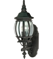 "Picture for category Wall Sconces 1 Light Fixtures With Textured Black Finish Aluminum Material Medium Bulb 6"" 100 Watts"