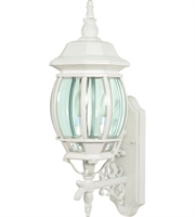 "Picture for category Wall Sconces 3 Light Fixtures With White Finish Aluminum Material Candelabra Bulb 7"" 180 Watts"