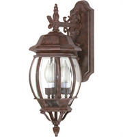 "Picture for category Wall Sconces 3 Light Fixtures With Old Bronze Finish Aluminum Material Candelabra Bulb 7"" 180 Watts"