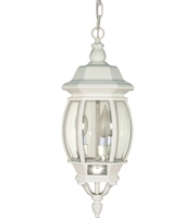 "Picture for category Outdoor Pendant 3 Light Fixtures With White Finish Aluminum Material Candelabra Bulb 7"" 180 Watts"