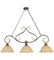 Picture for category Island 3 Light With Sonoma Bronze Finish Metal Material Medium Base 12 inch 180 Watts