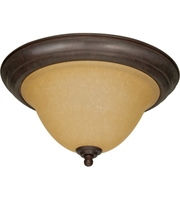 "Picture for category Flush Mounts 2 Light Fixtures With Sonoma Bronze Finish Metal Material Medium Bulb 15"" 120 Watts"