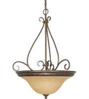 "Picture for category Pendants 3 Light Fixtures With Sonoma Bronze Finish Metal Material Medium Bulb 21"" 180 Watts"