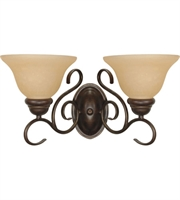 "Picture for category Bathroom Vanity 2 Light Fixtures With Sonoma Bronze Finish Metal Material Medium Bulb 17"" 120 Watts"